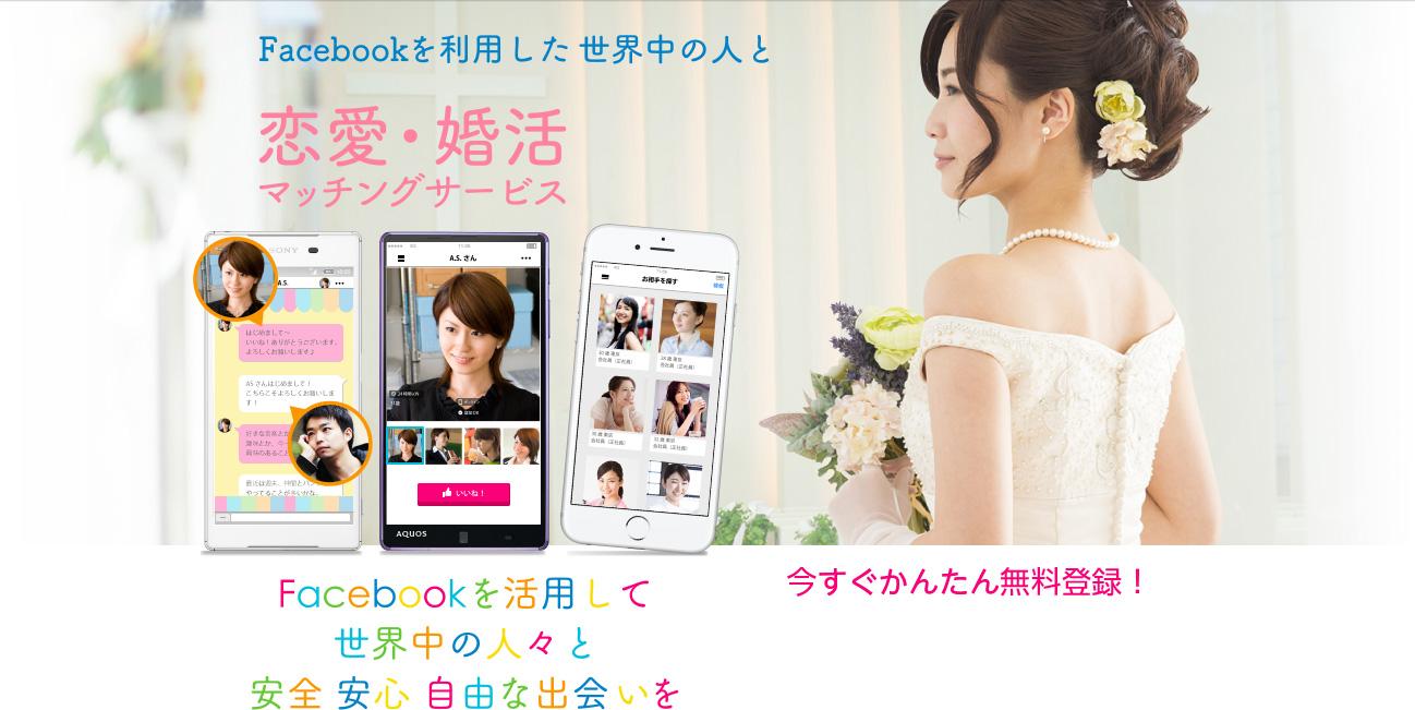 Facebookを利用した世界中の人と恋愛・婚活 マッチングサービス